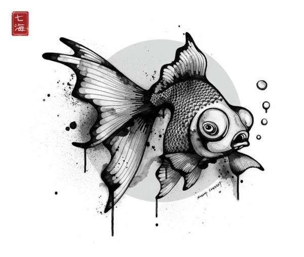 Drawn goldfish And Creatures Goldfish goldfish Drawn