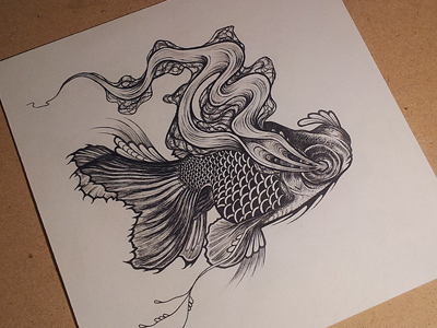 Drawn goldfish The by Black Goldfish Miller