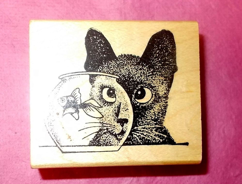 Drawn goldfish rubber Cat G651 Humor Cats rubber