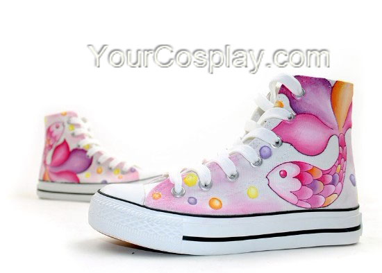 Drawn goldfish shoe New Top Painted Hand Top