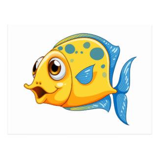 Drawn goldfish small fish Drawing Goldfish postcard fish A