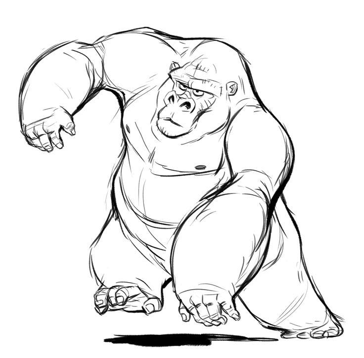 Drawn gorilla Gorilla Sketch gorilla Sketch studies