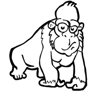 Drawn gorilla Gorillas to Cartoon :