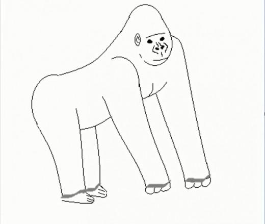Drawn gorilla Draw How a Gorilla Gorilla