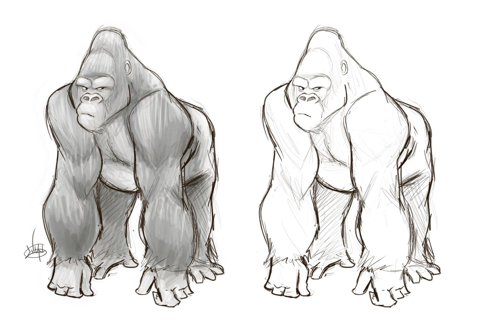 Drawn gorilla Drawing photo#3 drawing Gorilla Gorilla