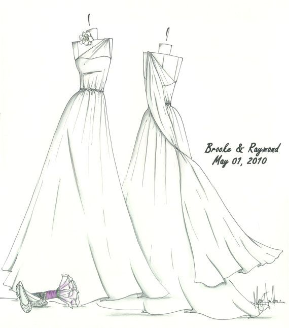 Drawn gown About Drawings images Bridal Drawn