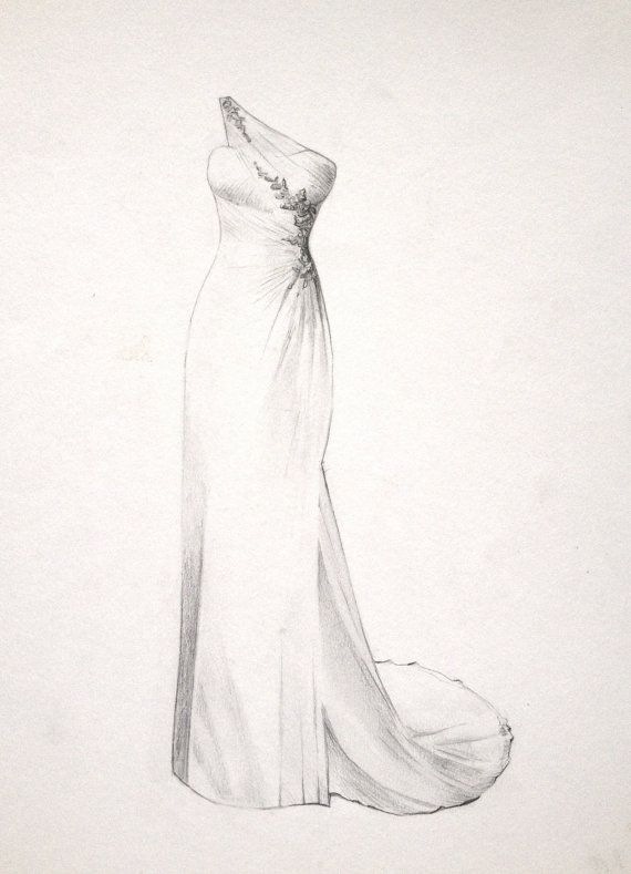 Drawn wedding dress #7