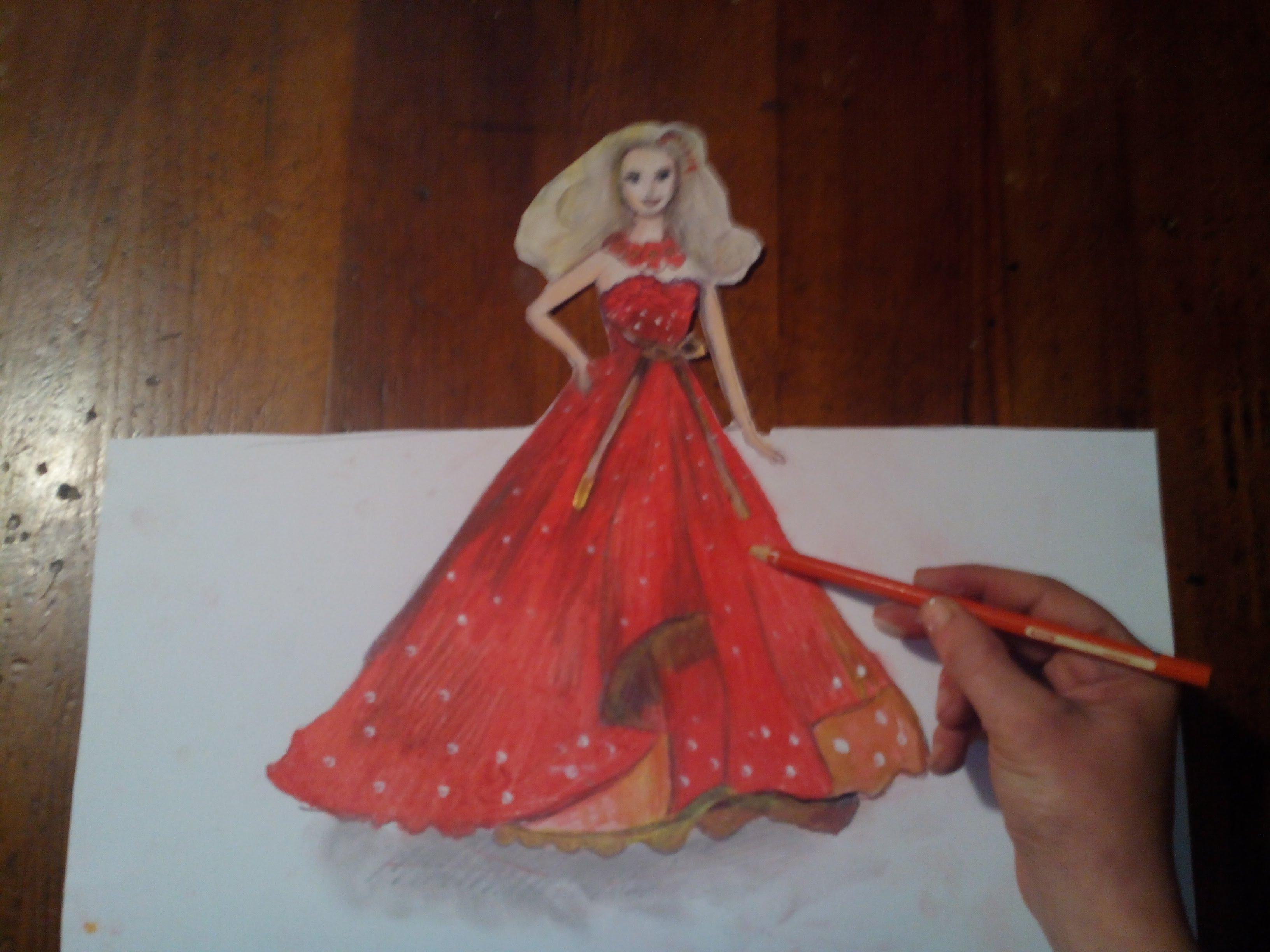 Drawn barbie frock Chúa draw princess barbie công
