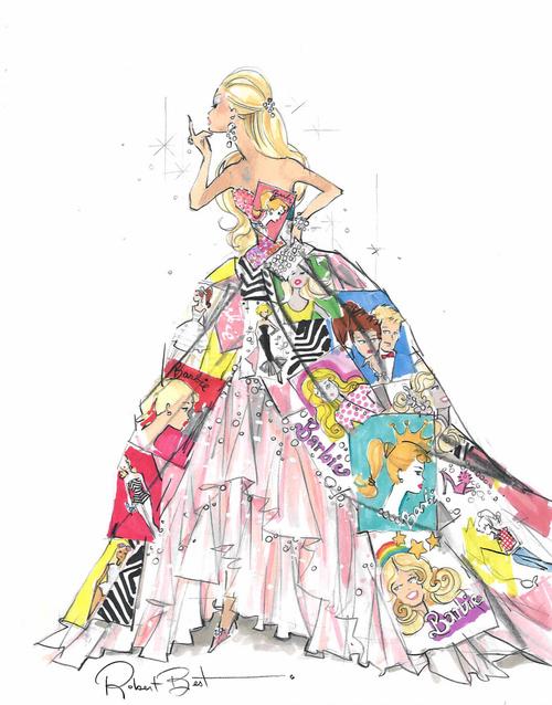 Drawn barbie frock Drawing Fashion Cool  girls
