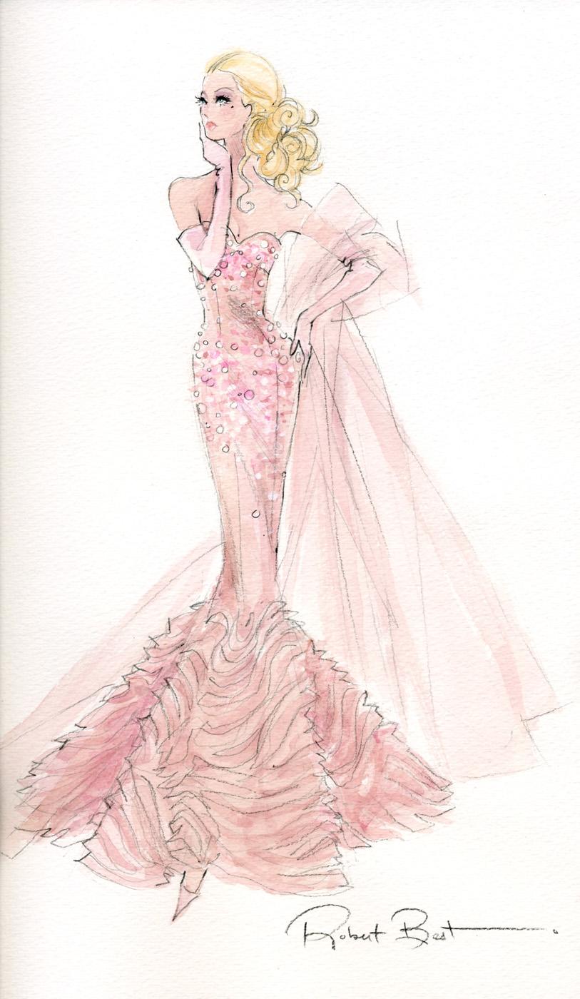 Drawn barbie gown 400 Gowns Artwork  pixels