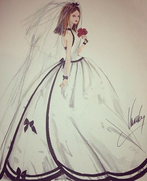 Drawn barbie gown Dress Dress Pinterest Vera Vera