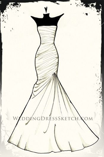 Drawn fashion Sketch dress illustrations about Pinterest