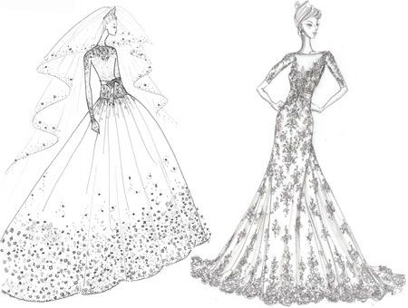 Drawn gown dress sketch Best dresses on drawings Pinterest
