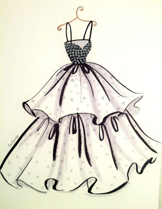 Drawn costume frock Ideas  Dress drawing Dress
