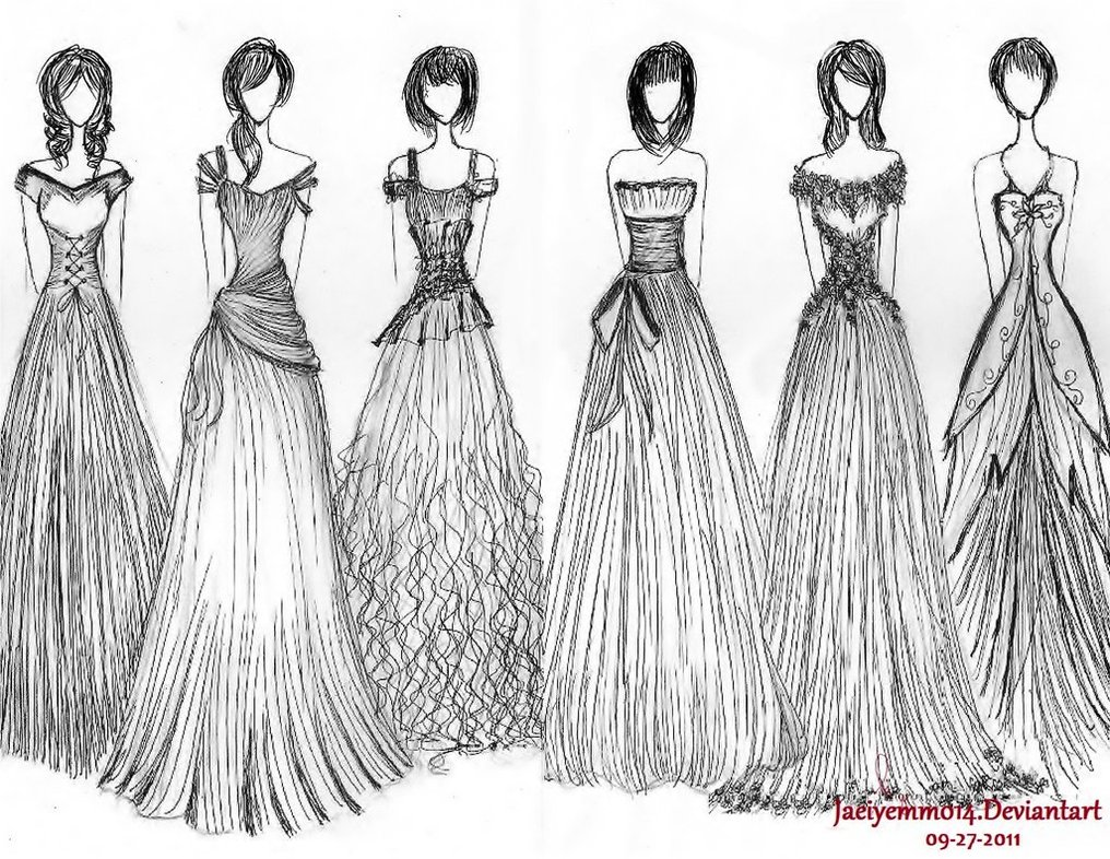 Drawn gown prom dress Dresses Women Drawings Dresses Dresses_dressesss