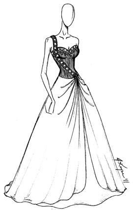 Drawn gown prom dress Dresses Gowns Drawings Dresses Dresses_dressesss