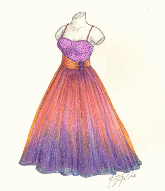 Drawn gown prom dress On Prom Dress by DeviantArt