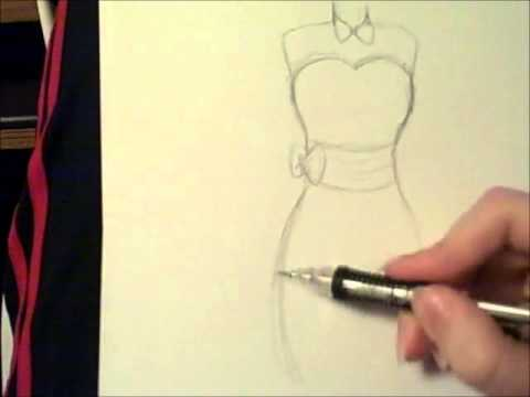 Drawn barbie gown Dress YouTube How to a
