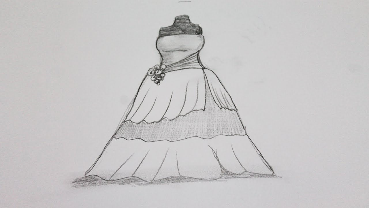 Drawn costume frock To YouTube by dress step