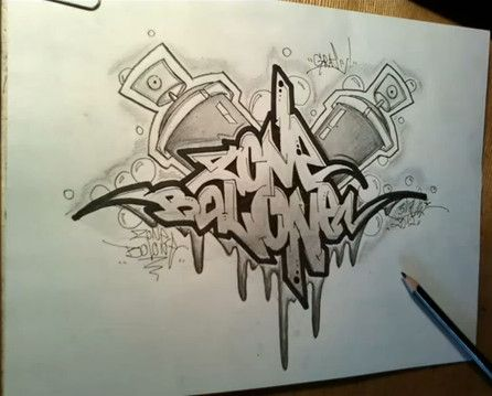 Drawn graffiti Sketch to draw 25+ 'ZONE