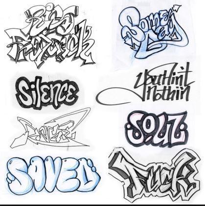 Drawn graffiti DIY Play on Drawing Graffiti