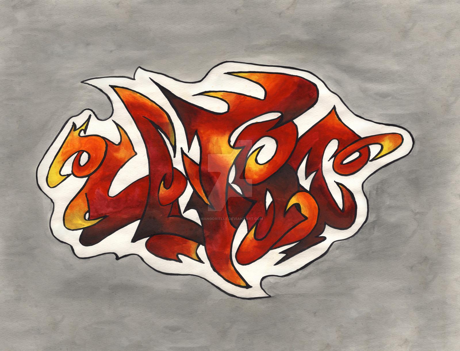 Drawn graffiti Drawn Graffiti Watercolors Hand Watercolors