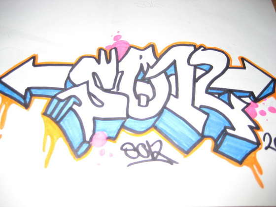 Drawn graffiti Style to Sketch Style to