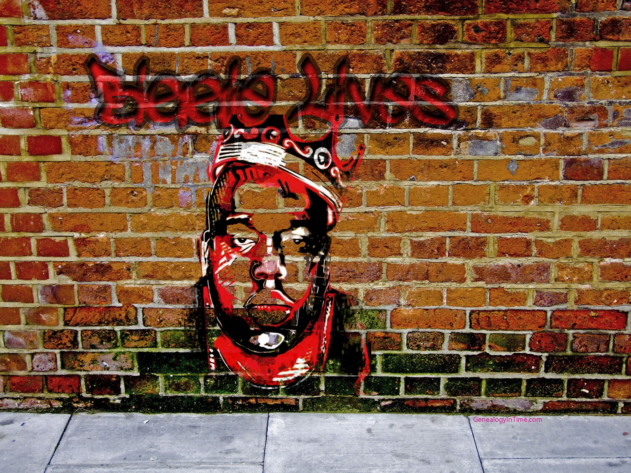 Drawn brick graffito brick wall Graffiti along Design : Brick