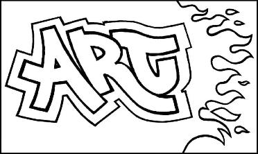 Drawn word Learn Turn draw Letters Into