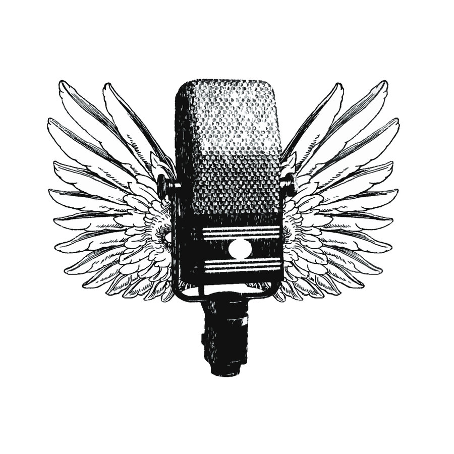 Drawn microphone singing Google Vox microphone pop microphone