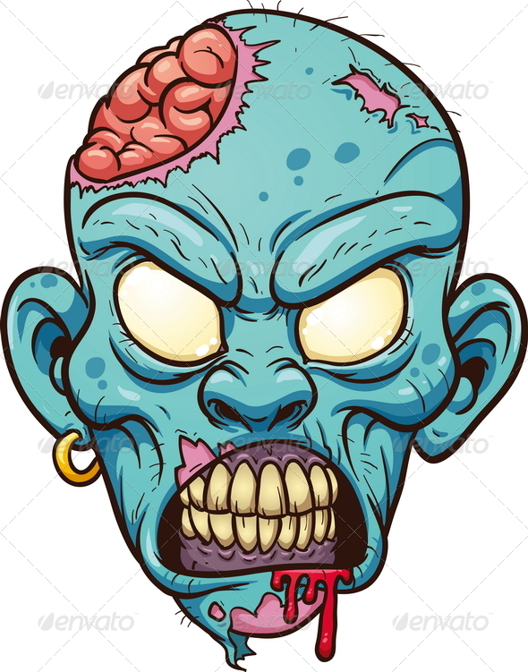 Zombie clipart mouth #2