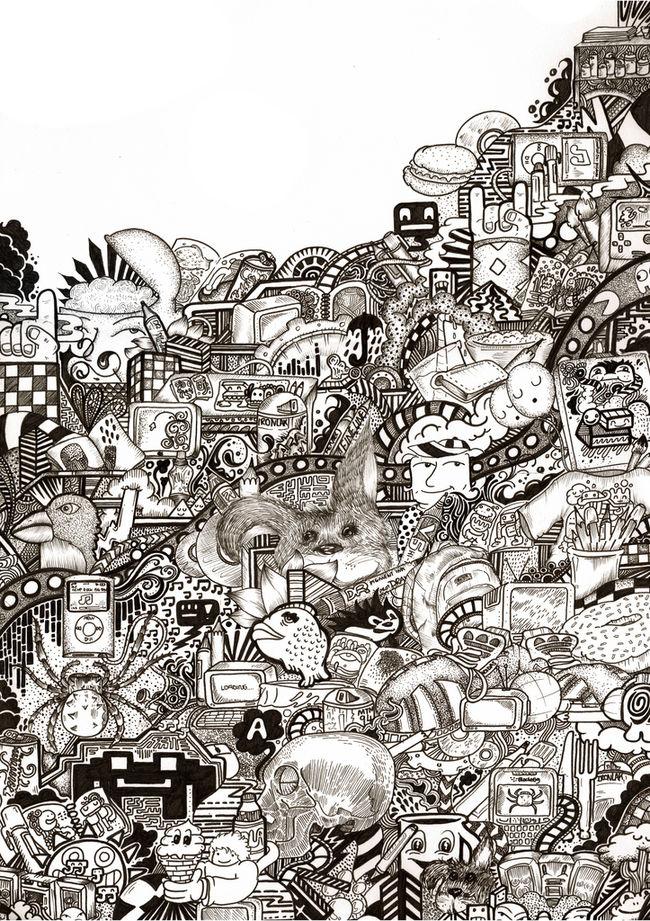 Drawn randome graffiti Art Doodles: drawings Random