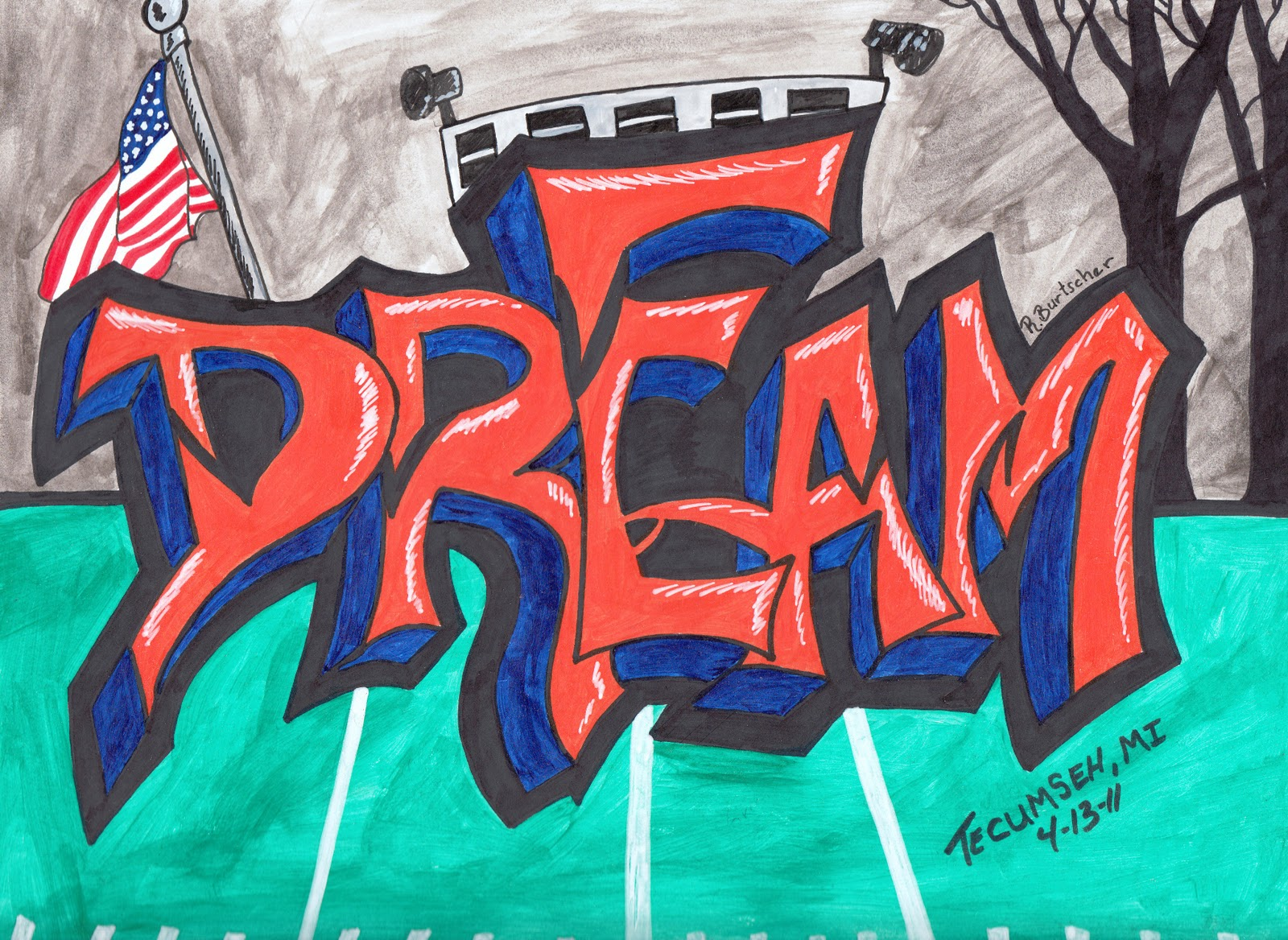 Drawn randome graffiti (older The Spirit: Creative