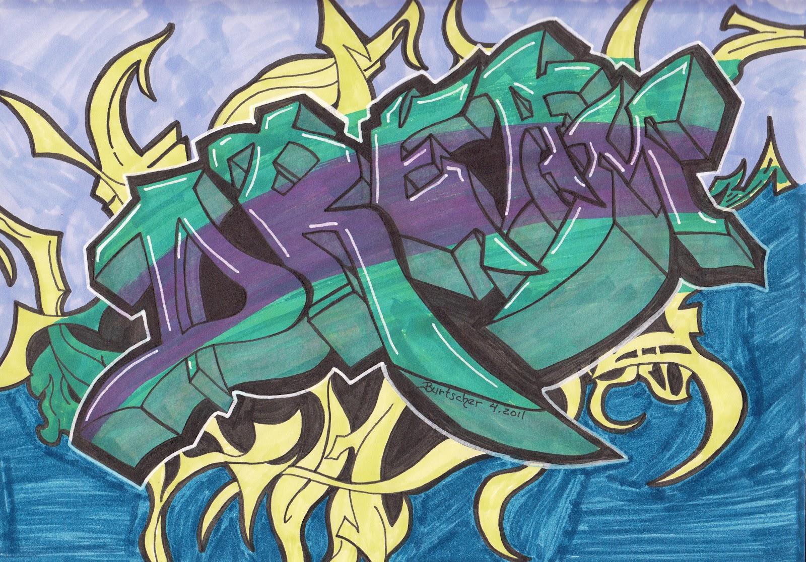 Drawn randome graffiti Themes The drawings) in around