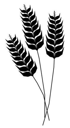 Drawn grain outline Pinterest Search Tattoo Wheat
