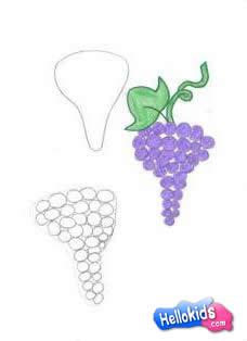 Drawn grape easy How grape draw to com