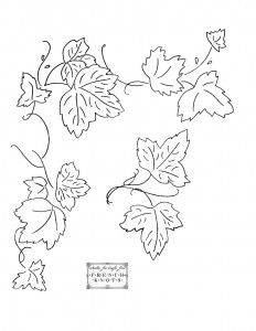 Drawn leaves pattern > Pages Fruits Grapes patterns