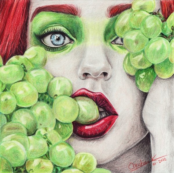 Drawn grapes realistic By by Grapes Draw Grapes