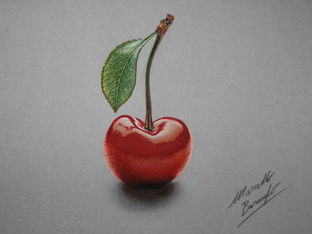 Drawn grapes realistic Com deviantart DrawingPlant Cherry by