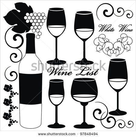 Drawn grape wine grape Wine Search 120 images bottles