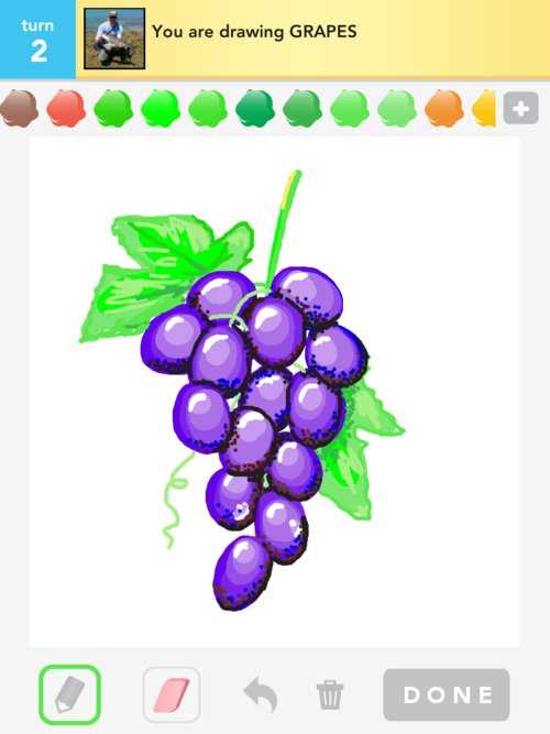Drawn grapes Grapes Draw 5 Steps how