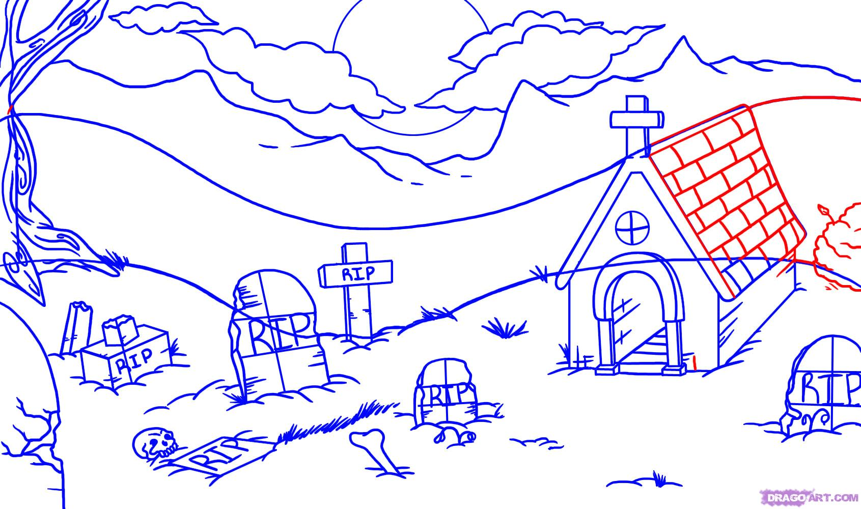 Drawn graveyard #4