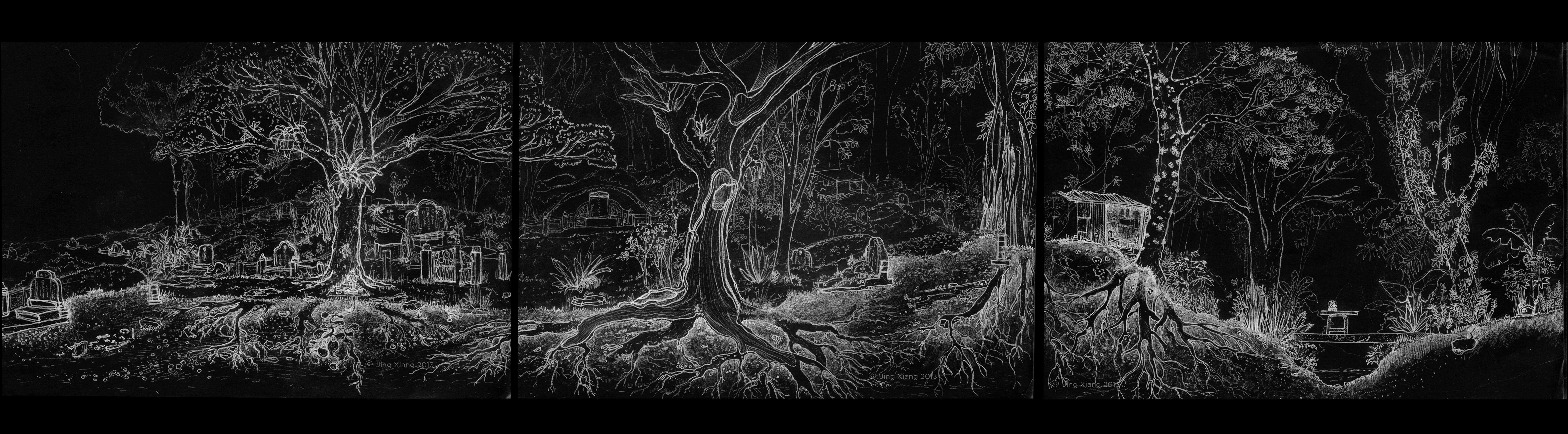 Drawn graveyard black World sectional : 2014 Brown: