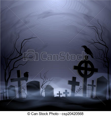 Drawn graveyard cemetery Clip Headstones Cemetery Vector and
