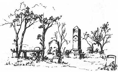 Drawn graveyard cemetery Waterford Cemetery of Union Virginia