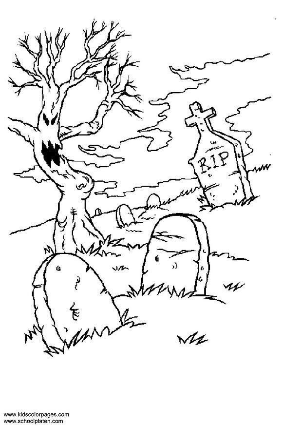 Drawn graveyard cemetery #7 coloring coloring drawings Download