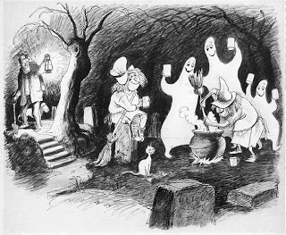 Drawn graveyard concept art The  Witches Inc Ghosts