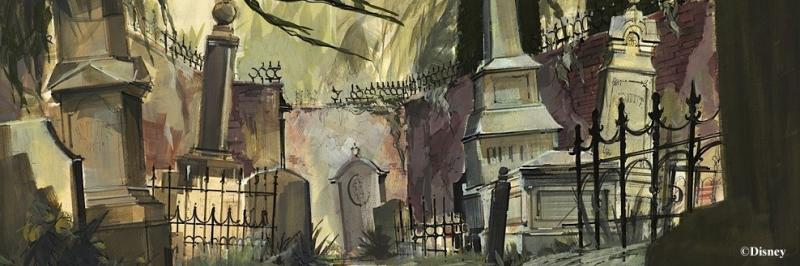Drawn graveyard concept art It appeared a composed it