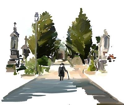Drawn graveyard concept art Neoseeker The  Graveyard Concept