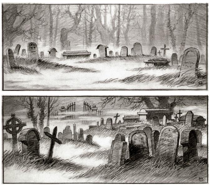 Drawn graveyard concept art Shrek  Concept Art Neoseeker